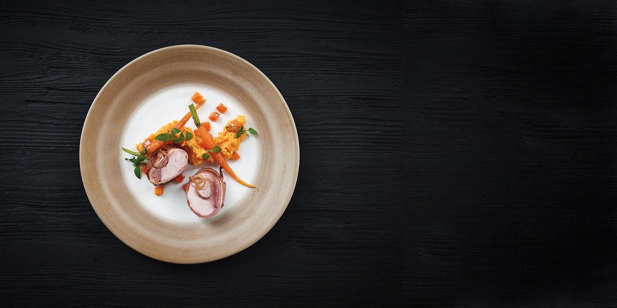 Teller Harald Rüssel Regionale Küche auf Serneniveau