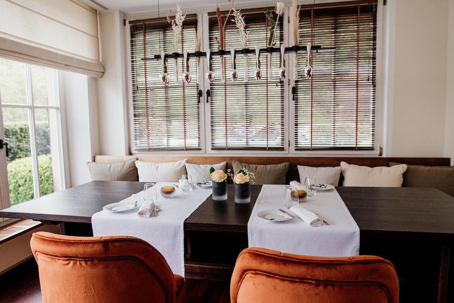 Ansicht des Gourmetrestaurants in Rüssels Landhaus nahe Trier